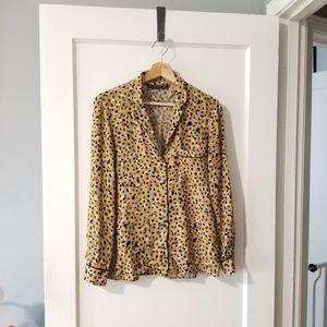 Zara Pajama Style Printed Blouse size S